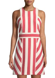 Milly Graphic Striped Sleeveless Dress