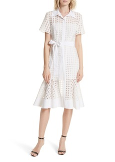 Milly Haley Window Check Shirtdress