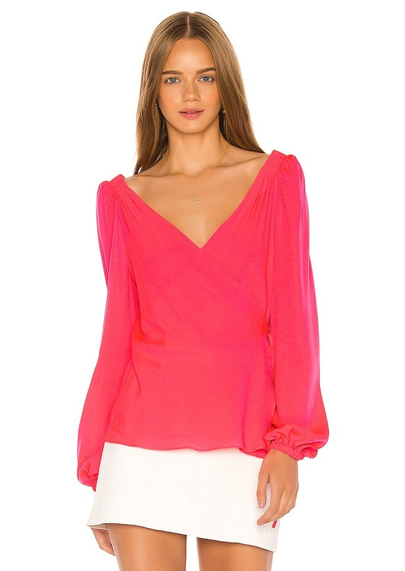 MILLY Hallie Wrap Top