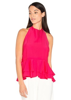 MILLY Halter Ruffle Tank in Pink. - size 2 (also in 0,4,6)