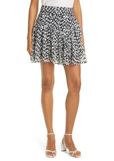 Milly Heidi Abstract Dot Ruffle Miniskirt