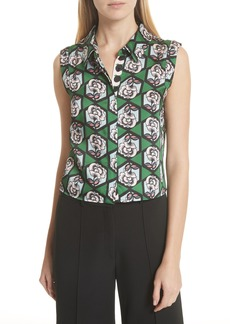 Milly Hexagon Floral Blouse