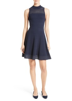Milly Hexagon Knit Fit & Flare Dress