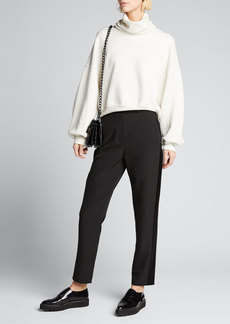 Milly High Waist Cady Skinny Pants w/ Side Combo