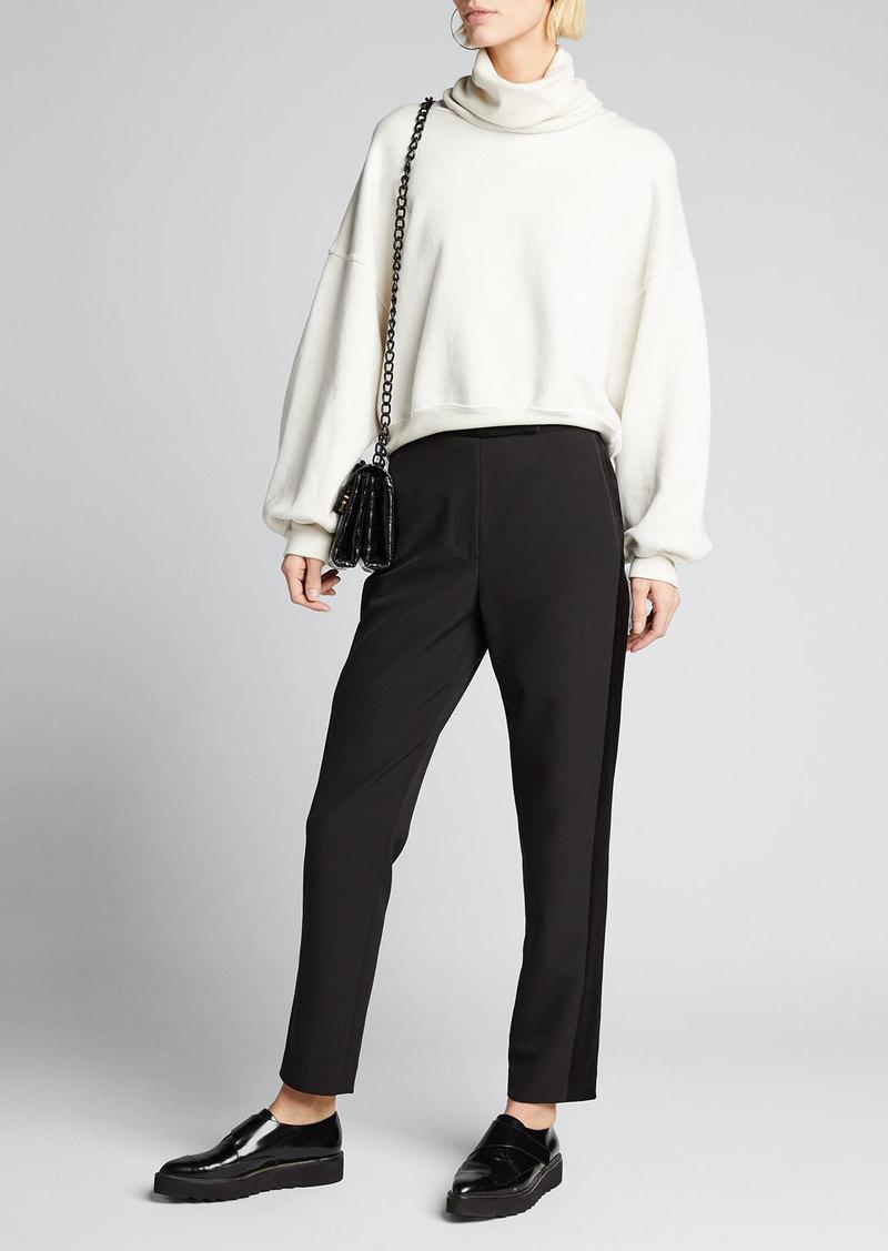 Milly High Waist Cady Skinny Pants w/ Side Combo