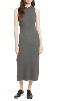 Milly Hooded Jersey Midi Dress
