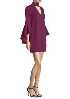 Milly Italian Cady Andrea Bell Sleeve Dress