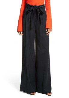 Milly Italian Gabardine Trapunto Trousers