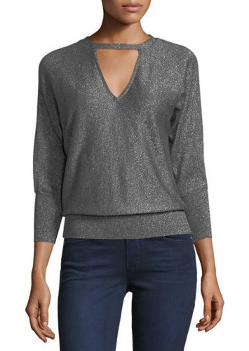 1d1c69a87fc4 Milly Italian Shimmer Cutout Sweater
