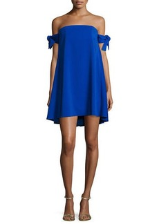 Milly Jade Off-the-Shoulder Italian Cady Swing Dress