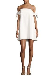Milly Jade Off-the-Shoulder Italian Cady Swing Dress