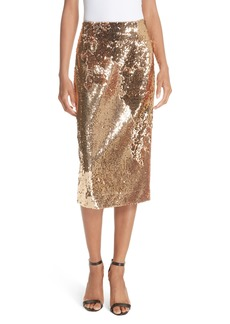 Milly Jamie Sequin Midi Skirt