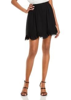 MILLY Jess Ruffled Chiffon Mini Skirt