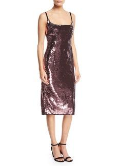 Milly Jessica Sequin Dress w/ Adjustable Straps