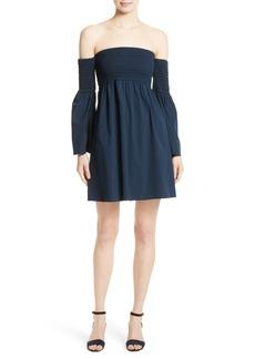Milly Jodi Off the Shoulder Smocked Dress