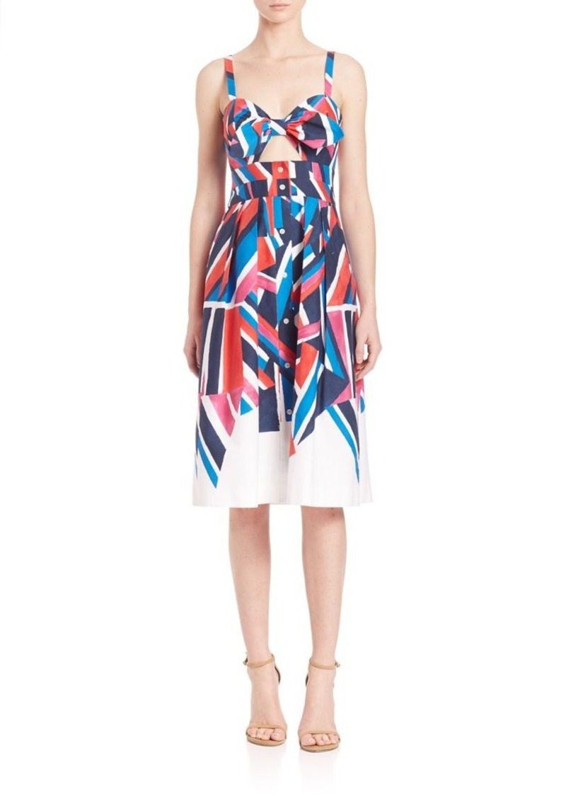 MILLY Jordan Printed Bow-Detail Dress