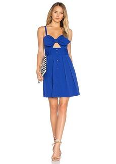 MILLY Jordan Tie Mini Dress in Blue. - size 2 (also in 4,6,8)