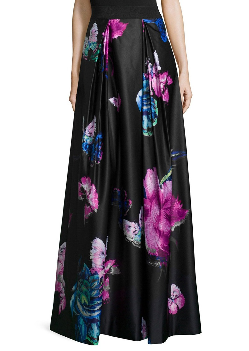 Milly Katie Butterfly-Print Maxi Skirt