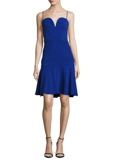 Milly Kelly Sweetheart Fit-&-Flare Dress  Cobalt