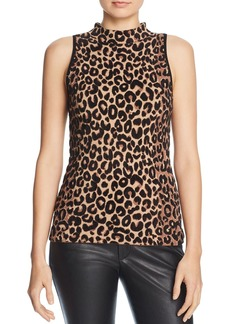 MILLY Knit Leopard Top
