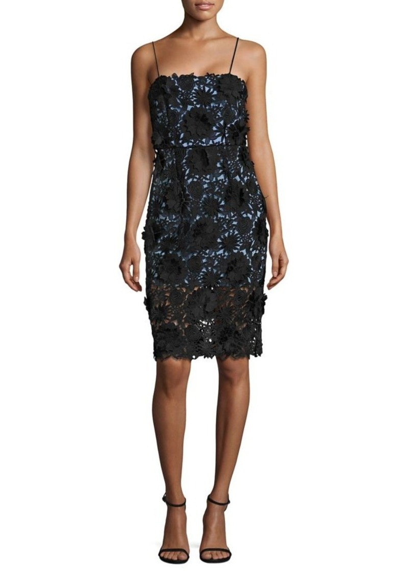 MILLY Lace Strap Dress