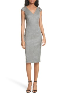 Milly Larissa Italian Gabardine Sheath Dress