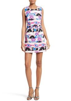 Milly Laura Modern Print A-Line Dress