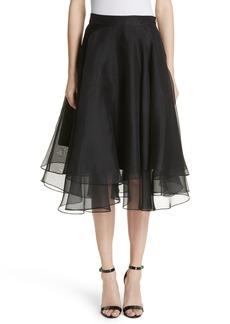 Milly Layered Organza A-Line Skirt