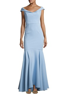 Milly Layla Stretch Crepe Mermaid Gown