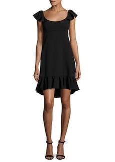 Milly Lindsey Cap-Sleeve Cady Dress
