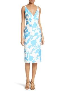 Milly Liz Floral Jacquard Sheath Dress