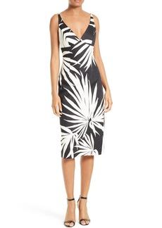 Milly Liz Palm Print Sheath Dress