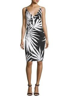 Milly Liz Sleeveless Palm-Print Sheath Dress