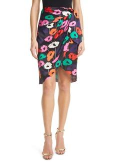 Milly Liza Poppy Print Wrap Skirt