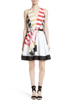 Milly Lola Nautical Abstract Print Fit & Flare Dress