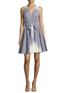 Milly Lola Sleeveless Ombre-Striped Dress
