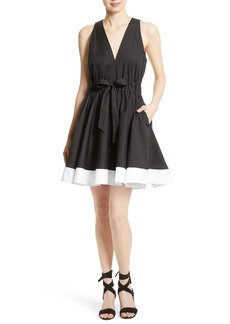 Milly Lola Stretch Poplin Skater Dress