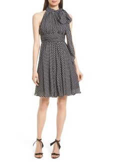 Milly Lydia Dot Print Silk Fit & Flare Dress