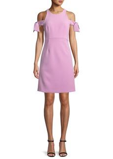 Milly Madison Stretch Crepe Cold-Shoulder Dress