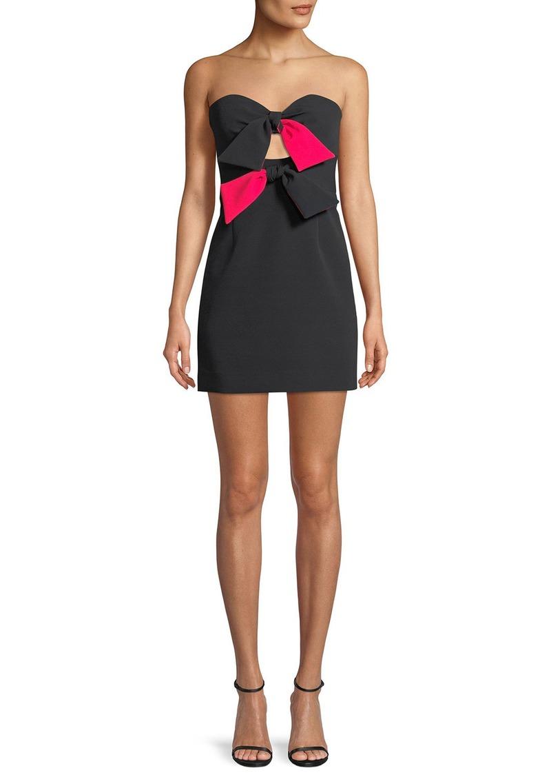 3b5ae785d650 Milly Mckenzie Bow-Embellished Mini Dress Now $153.60