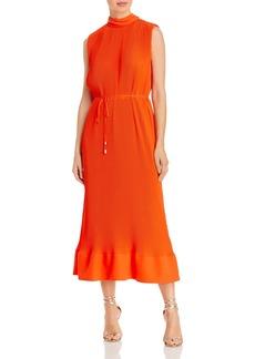 MILLY Melina Pleated Midi Dress
