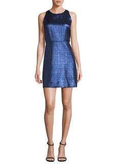 Milly Metallic Jacquard Sheath Dress