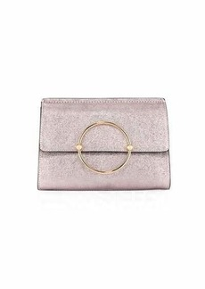 Milly Metallic Ring Flap Clutch Bag
