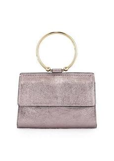 Milly Metallic Ring Flap Crossbody Bag