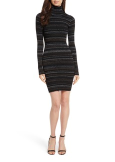 Milly Metallic Stripe Fitted Dress