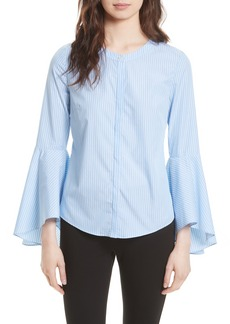 Milly Michelle Stripe Bell Sleeve Blouse