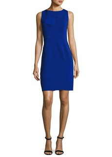 Milly Mika Sleeveless Italian Cady Sheath Dress