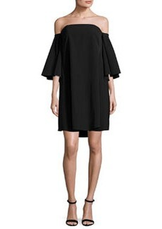 Milly Mila Off-the-Shoulder Italian Cady Minidress