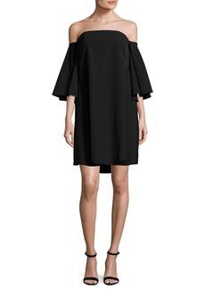 Milly Mila Off-the-Shoulder Italian Cady Minidress