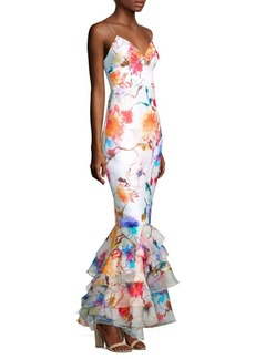 Milly Milan Floral Gown